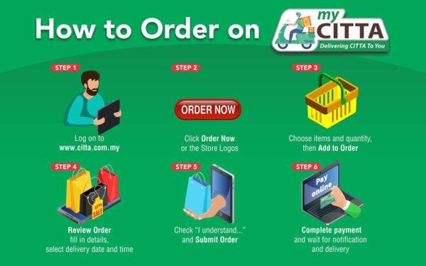 citta mall ara damansara mycitta online delivery steps