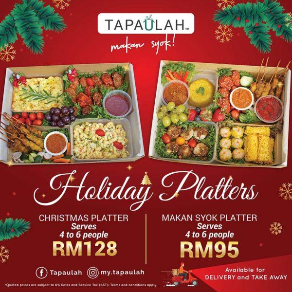 tapaulah christmas season holiday platters