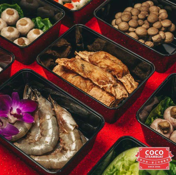 coco steamboat abundant dabao sets fresh ingredients