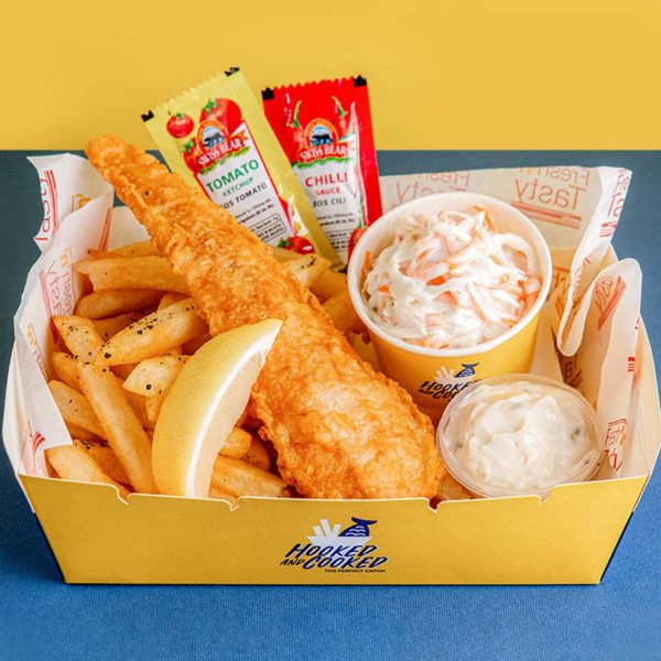 foodpanda hooked and cooked fish and chips