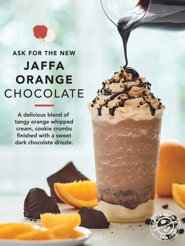 the coffee bean tea leaf cny 2021 jaffa orange chocolate ice blended