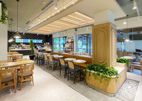 the coffee bean tea leaf cny 2021 outlet interior