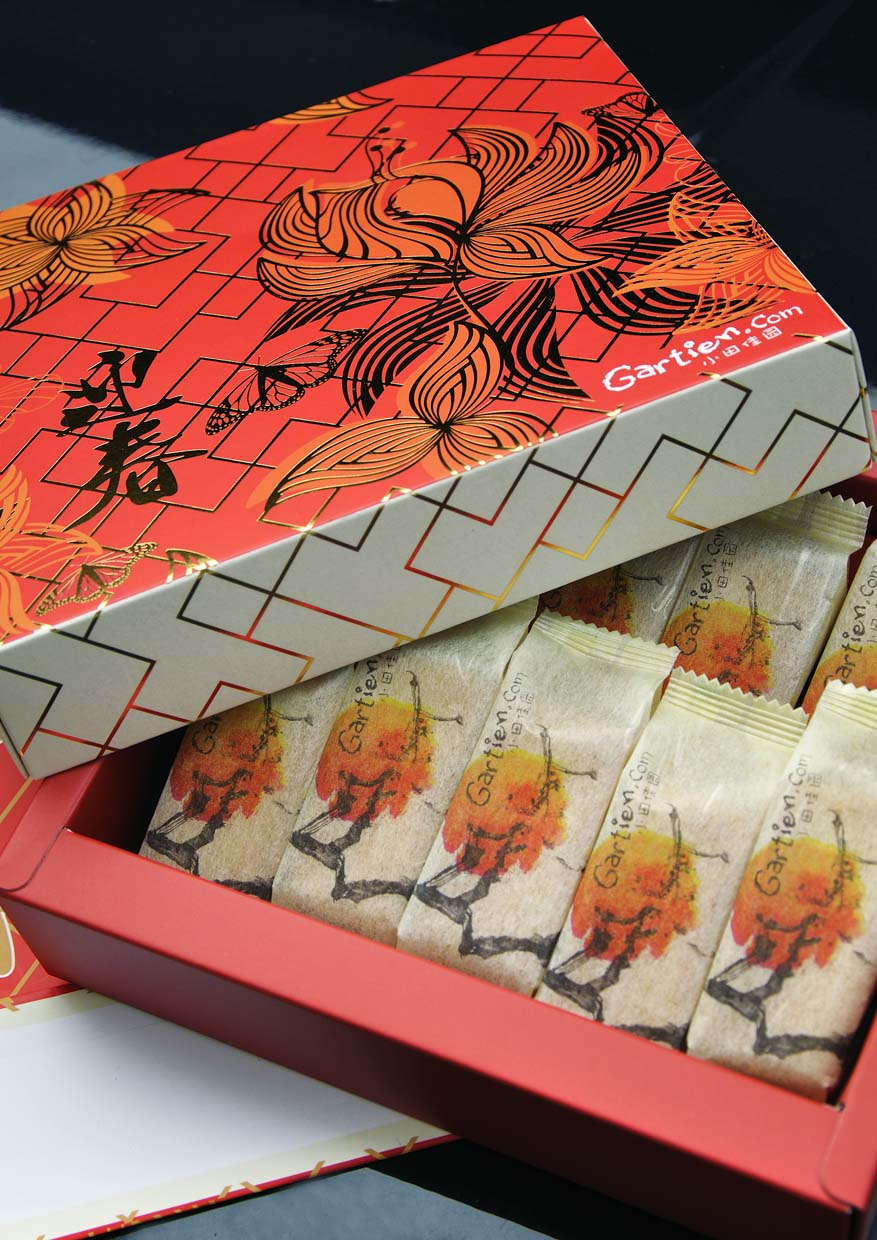 New Chinese New Year Packaging Gartien Pineapple Cake @ Macalister Lane, Penang