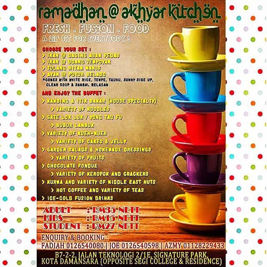Ramadhan @ Akhyar Kitchen