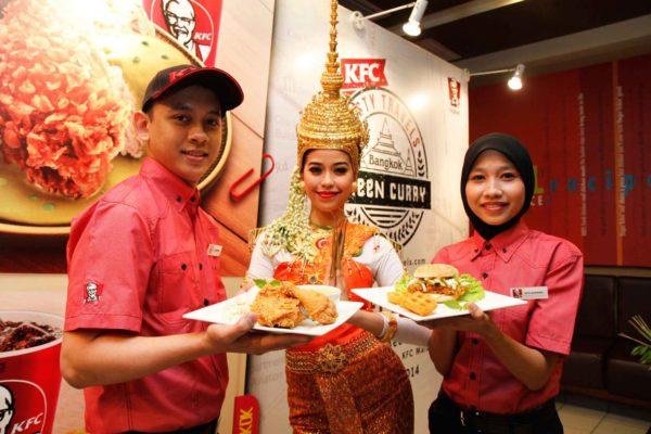 The New KFC Bangkok Green Curry Chicken Meals & Zinger Green Curry Burger