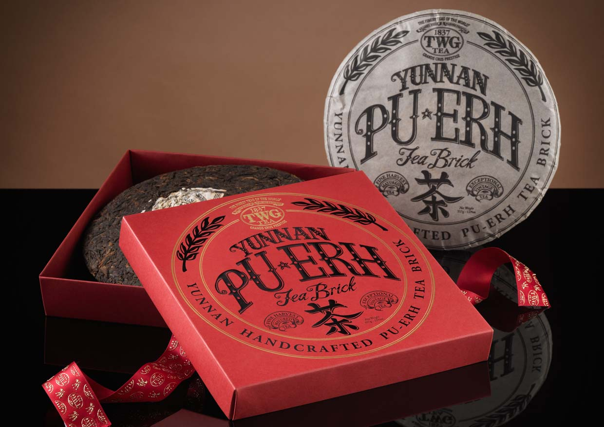 Yunnan Pu-erh Tea Brick For Lunar New Year 2015 @ TWG Tea