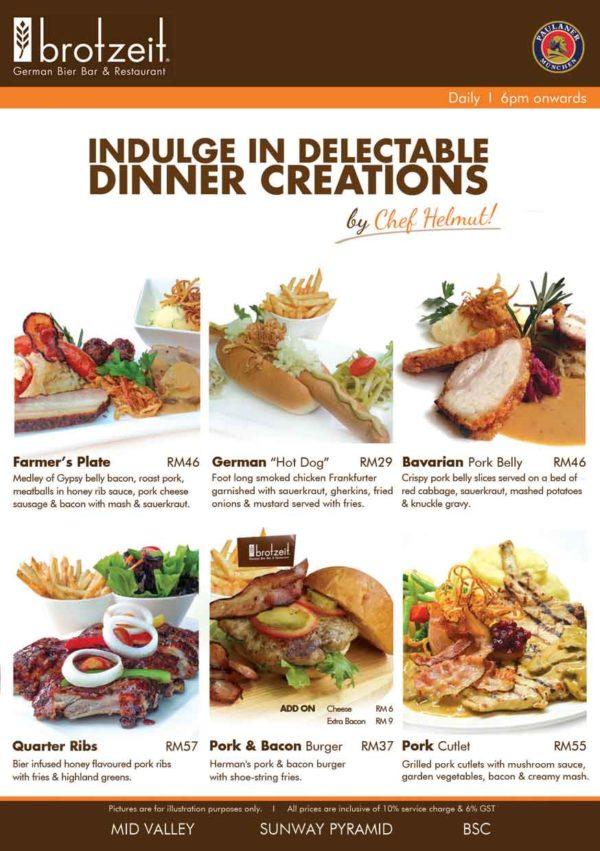 Pure Taste Restaurant Menu