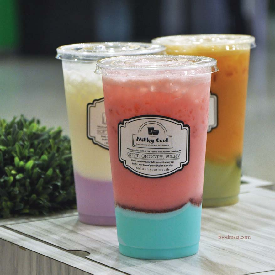 Milky Cool Handcrafted Milk & Tea Drinks with Natural Puddings @ Milkcow Malaysia
