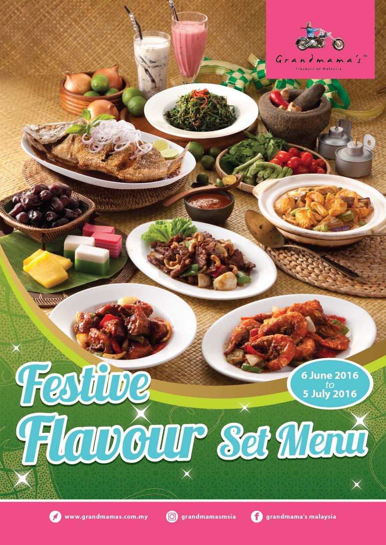 Festive Flavour Set Menu 2016 @ Grandmama's Malaysia