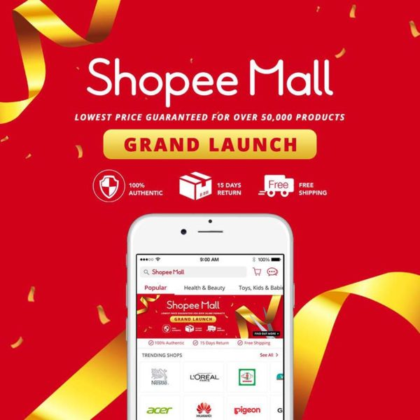 Online Shopping For 300 Leading Brands @ Shopee Mall