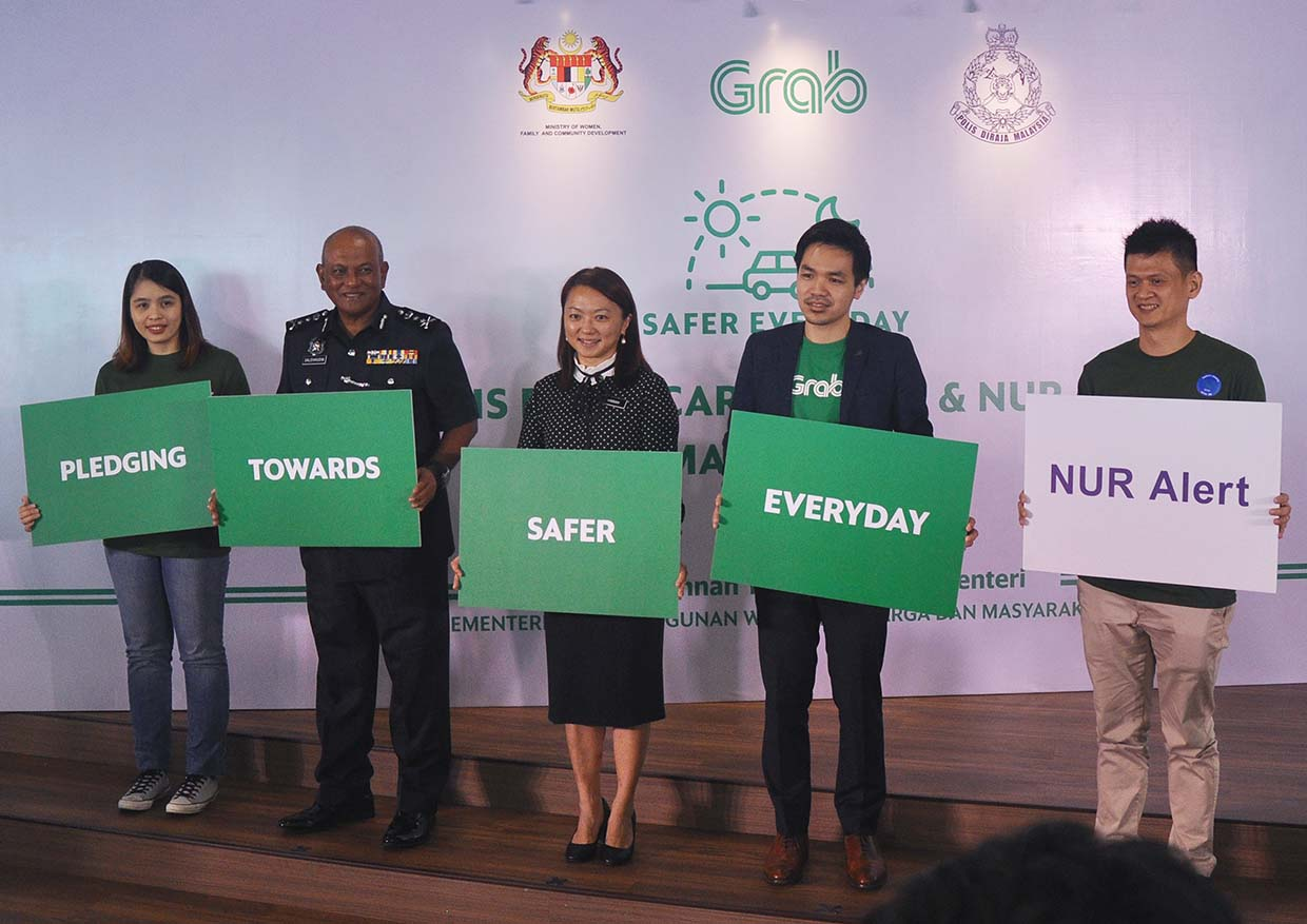 Grab Collaborates with PDRM's NUR Alert for #SaferEveryday