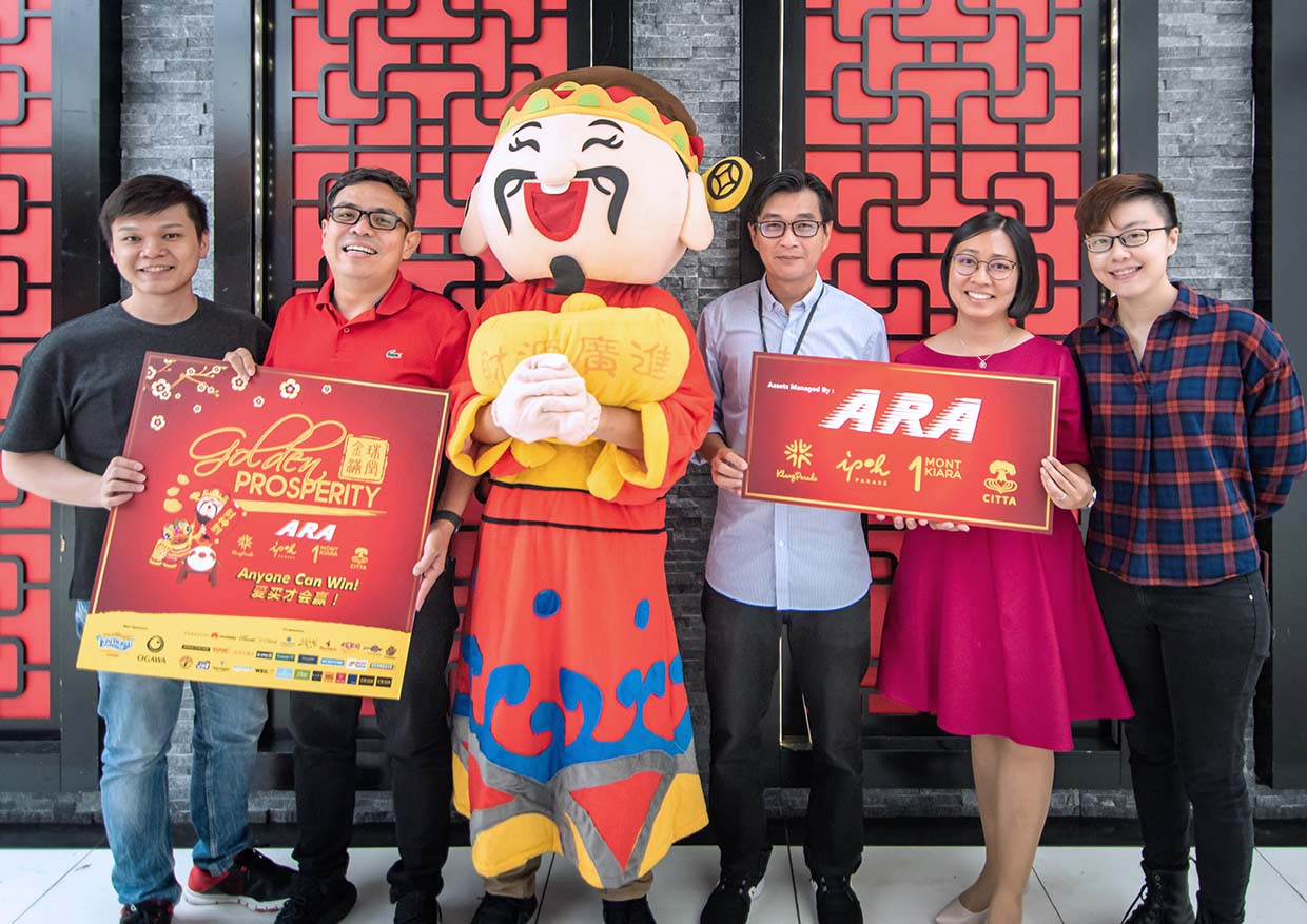 'Golden Prosperity' CNY Win Gold Bars Campaign @ ARA Malls
