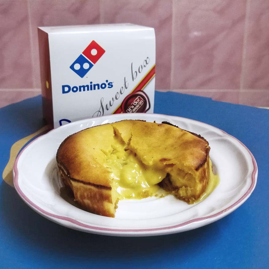 All-New Luscious Durian Lava Cake @ Domino's Pizza