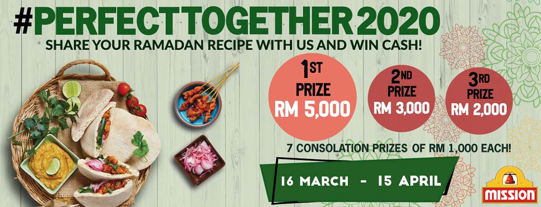 #PerfectTogether2020 Ramadan Recipe Contest @ Mission Foods