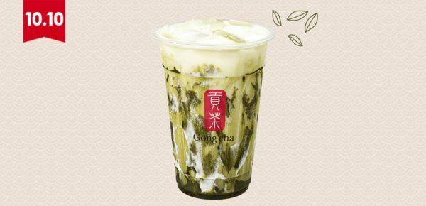 gong cha shopee 1010 festival drink matcha marble