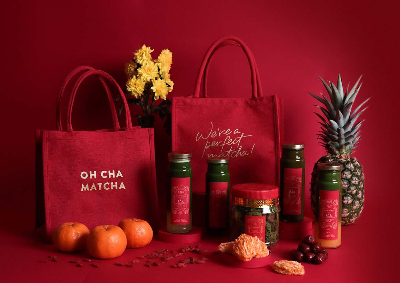 Oh Cha Matcha x Lo Hong Ka CNY Gift Bag