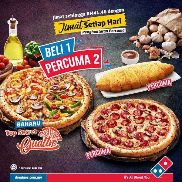 dominos pizza top secret quattro promotion