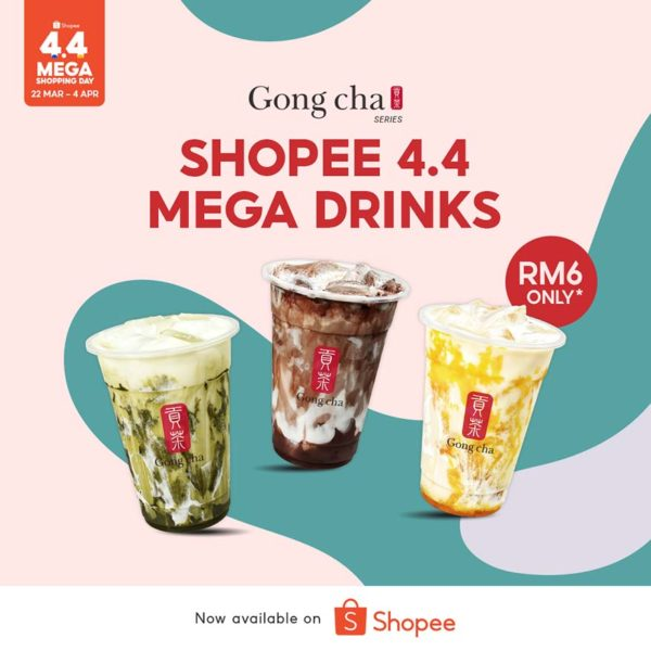 shopee 44 mega shopping day gong cha promo