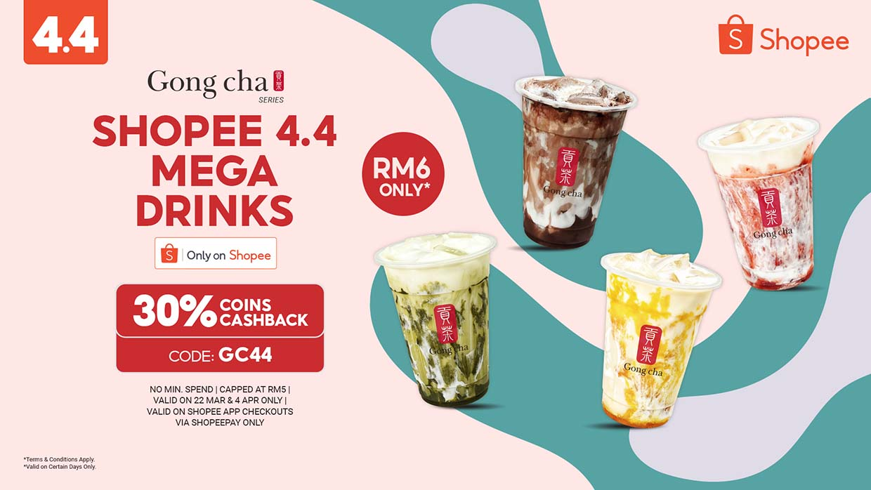 Shopee x Gong Cha Best Sellers Marble Series Are Back This 4.4