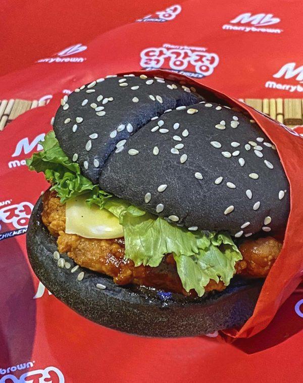 marrybrown korean inspired gangjeong burger
