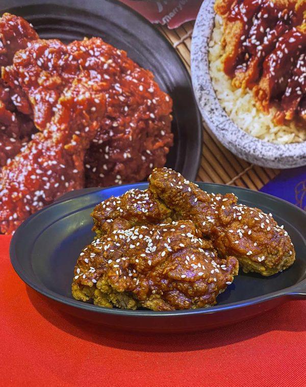 marrybrown korean inspired gangjeong chicken combo