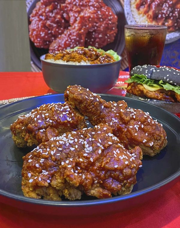marrybrown korean inspired gangjeong chicken set