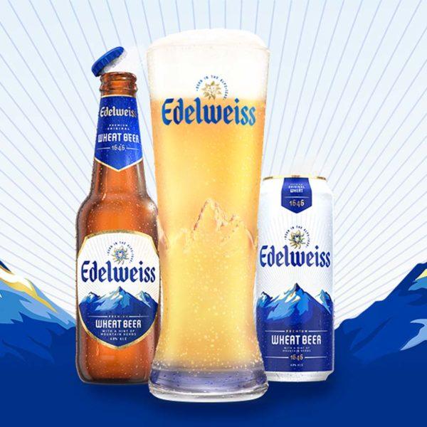 edelweiss premium wheat beer heineken malaysia golden hue
