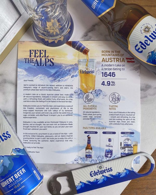 edelweiss premium wheat beer heineken malaysia introduction