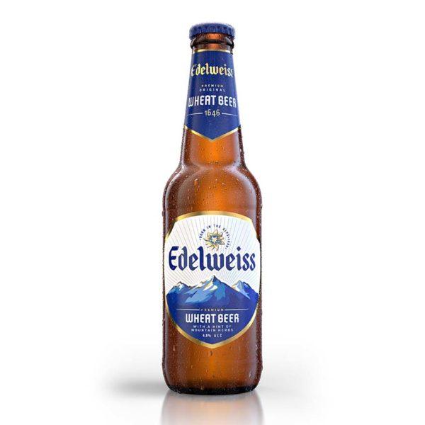 edelweiss premium wheat beer heineken malaysia bottle