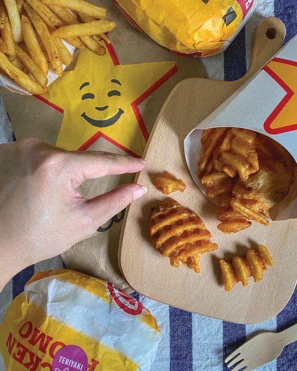 us fries bonanza grab food carls jr