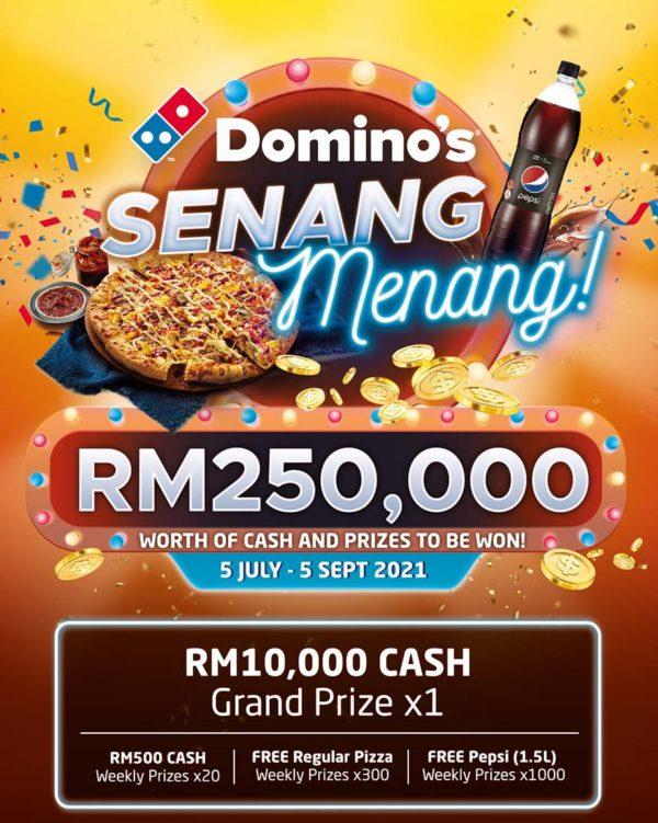 dominos pizza etika senang menang contest prizes