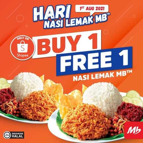 marrybrown shopee sales hari nasi lemak mb promotion