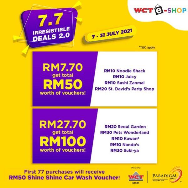 wct malls 77 irresistible deals paradigm mall petaling jaya
