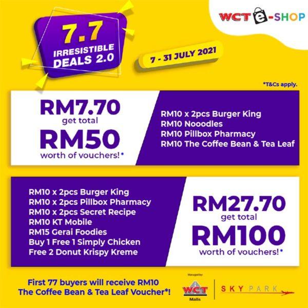 wct malls 77 irresistible deals subang skypark terminal