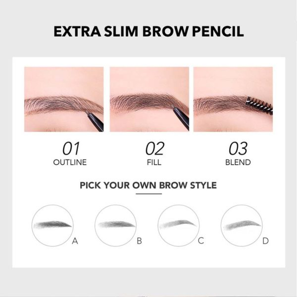 you beauty extra slim brow pencil style
