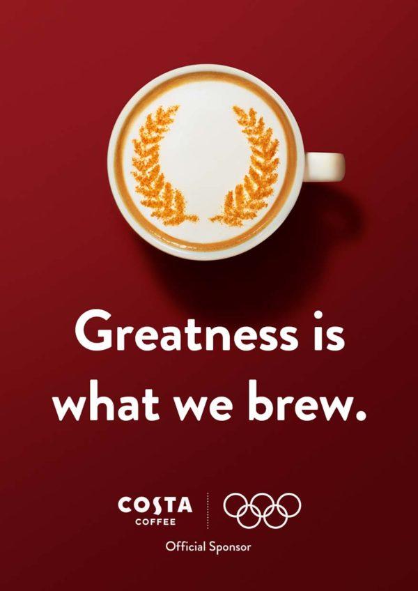 costa coffee golden caramel range olympic games tokyo 2020 sponsorship