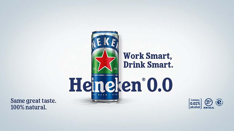 Work Smart, Drink Smart with Heineken® 0.0