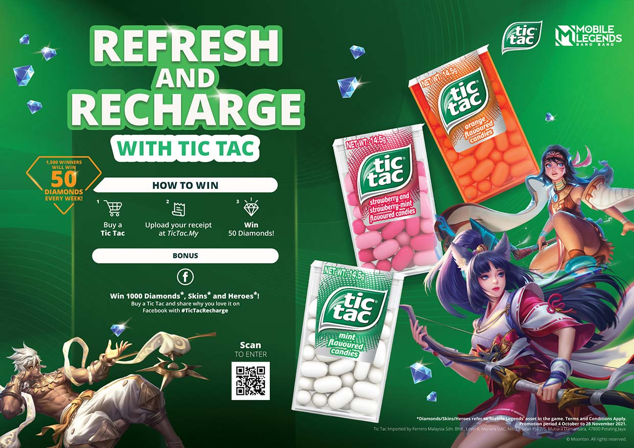 Refresh & Recharge @ Tic Tac Malaysia X Mobile Legends